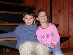 Little me with my brother, Matt.