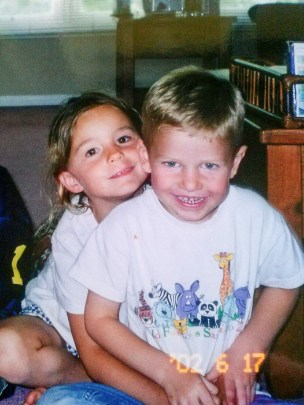 Little me with my neighbor, whose name is also Matt.